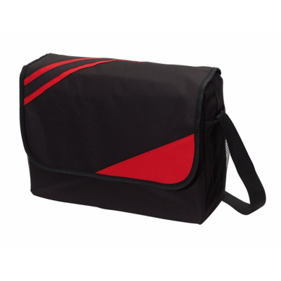 Picture of CITY EXHIBITION SHOULDER BAG in Black & Red