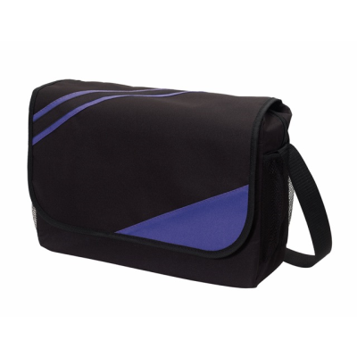 Picture of CITY EXHIBITION SHOULDER BAG in Black & Lilac