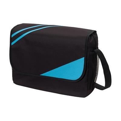 Picture of CITY EXHIBITION SHOULDER BAG in Black & Light Blue