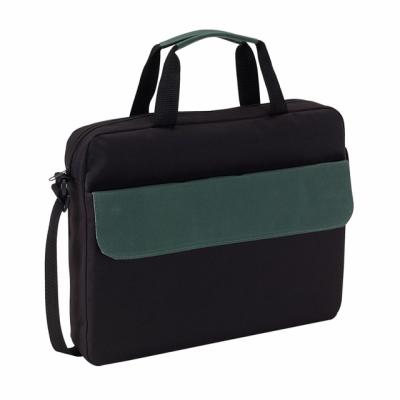 Picture of BRISTOL DOCUMENT BAG in Black & Dark Green
