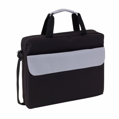Picture of BRISTOL DOCUMENT BAG in Black & Grey