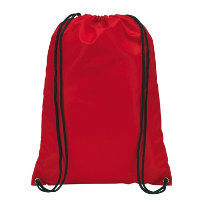 Picture of TOWN DRAWSTRING BACKPACK RUCKSACK in Red