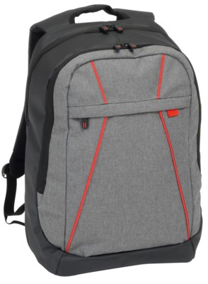 Picture of SPLIT BACKPACK RUCKSACK in Grey & Red