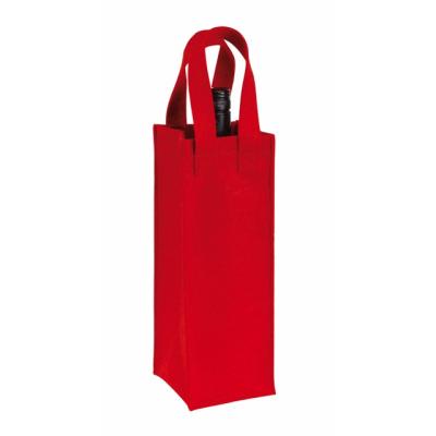 Picture of CABERNET FELT BOTTLE BAG in Red