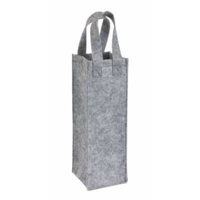 Picture of CABERNET FELT BOTTLE BAG in Grey