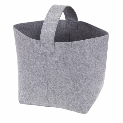 Picture of COSY FELT FIREWOOD BAG in Grey