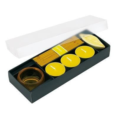 Picture of LEMON SCENTED CANDLE SET in Lemon