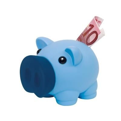 Picture of MONEY COLLECTOR PIG MONEY BOX PIGGY BANK in Blue