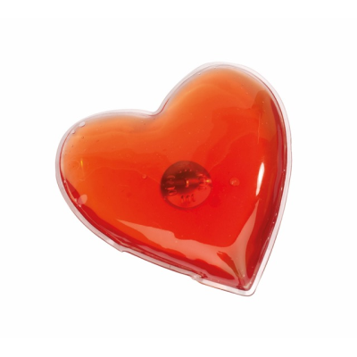Picture of WARM HEARTED HEART SHAPE HAND WARMER HOT PACK in Red