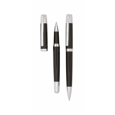 Picture of STERLING WRITING SET in Black - Silver