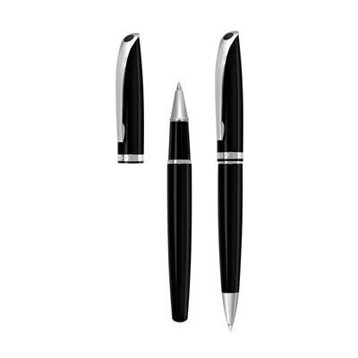 Picture of BOHEMIAN WRITING SET in Black - Silver