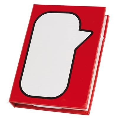 Picture of MEMO BOX SPEECH BUBBLE in Red