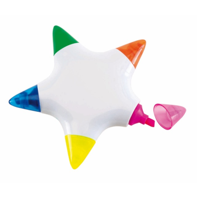 Picture of STAR HIGHLIGHTER SET in White with 5 Colours