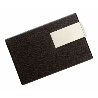 Picture of BUSINESS CARD HOLDER in Black & Silver