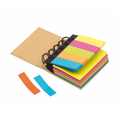 Picture of MULTI MEMO MINI RING BINDER BOOK in Brown