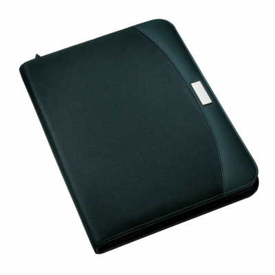 Picture of CREADO A5 ZIP AROUND CONFERENCE FOLDER in Black