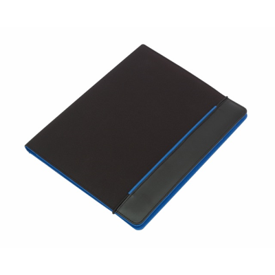 Picture of YOUNG STAR MICROFIBRE CONFERENCE FOLDER in Black & Blue
