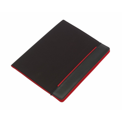 Picture of YOUNG STAR MICROFIBRE CONFERENCE FOLDER in Black & Red