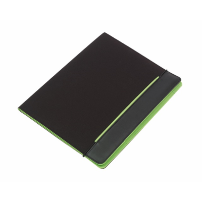 Picture of YOUNG STAR MICROFIBRE CONFERENCE FOLDER in Black & Green