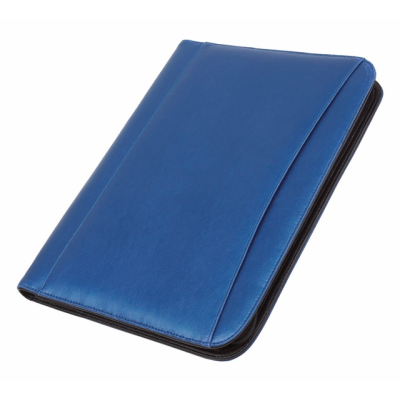 Picture of A4 ZIP AROUND CONFERENCE FOLDER & CALCULATOR in Blue