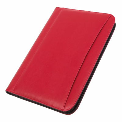 Picture of A4 ZIP AROUND CONFERENCE FOLDER & CALCULATOR in Red