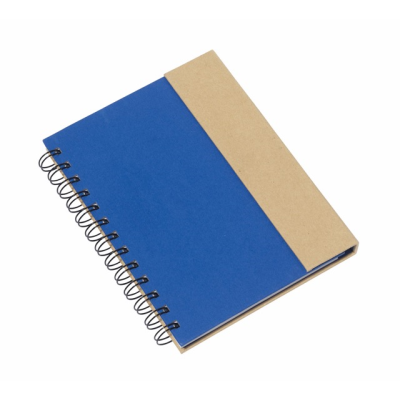 Picture of MAGNY SPIRAL WIRO BOUND NOTE BOOK PAD in Blue & Natural