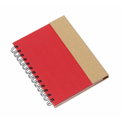 Picture of MAGNY SPIRAL WIRO BOUND NOTE BOOK PAD in Red & Natural