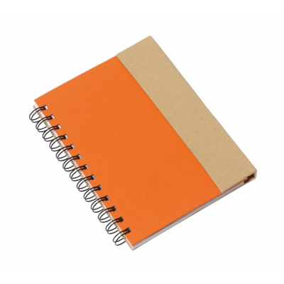 Picture of MAGNY SPIRAL WIRO BOUND NOTE BOOK PAD in Orange & Natural
