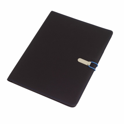 Picture of SESSION A4 MICROFIBRE PORTFOLIO CONFERNCE FOLDER in Black & Blue