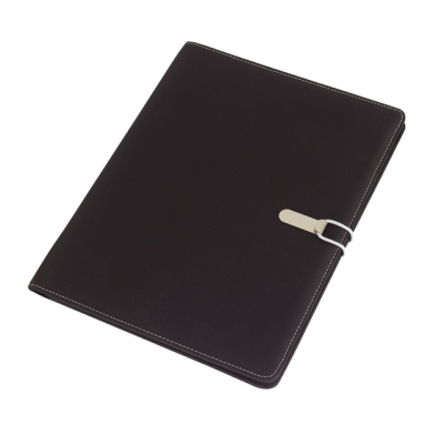 Picture of SESSION A4 MICROFIBRE PORTFOLIO CONFERNCE FOLDER in Black & Grey