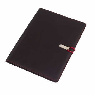 Picture of SESSION A4 MICROFIBRE PORTFOLIO CONFERNCE FOLDER in Black & Red