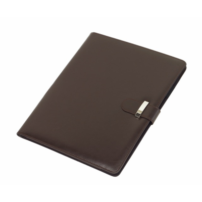 Picture of NEW JERSEY A4 PU PORTFOLIO CONFERENCE FOLDER in Brown