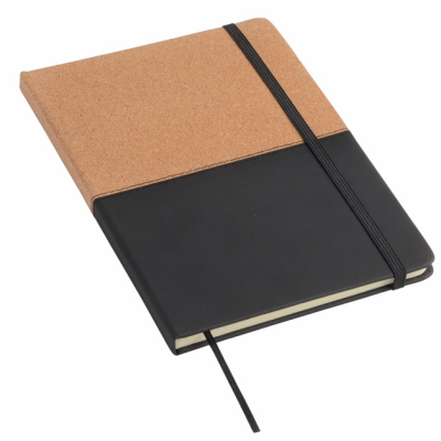 Picture of CORKY NOTE BOOK CORKY in Black & Brown
