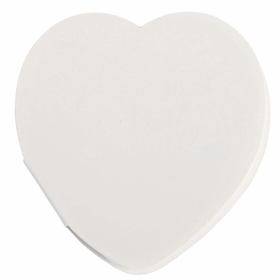 Picture of IN LOVE HEART MEMO STICKER in White