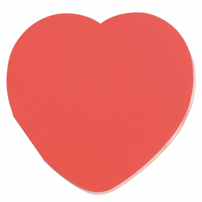Picture of IN LOVE HEART MEMO STICKER in Red
