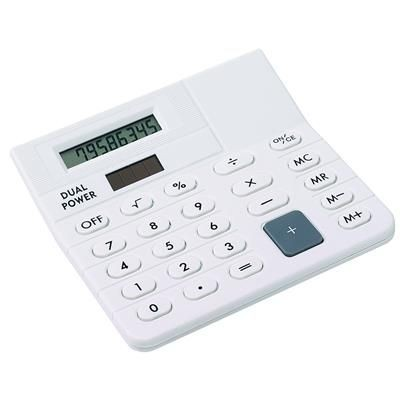 Picture of DESK DUAL POWER CALCULATOR in White
