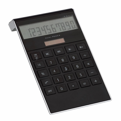 Picture of DOTTY MATRIX 10 DIGIT DESK CALCULATOR in Black