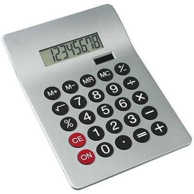 Picture of DUAL POWER DESK CALCULATOR in Silver