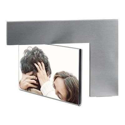 Picture of ALUMINIUM METAL DOUBLE PHOTO FRAME in Silver & Black
