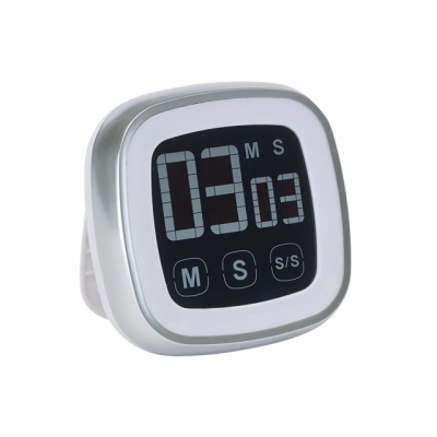 Picture of TOUCH N COOK KITCHEN TIMER in Silver & White