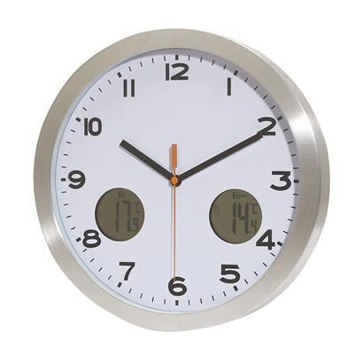 Picture of COOL TIME ROUND WALL CLOCK in Silver