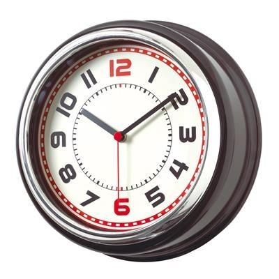 Picture of COUNTRY ROUND WALL CLOCK in Black