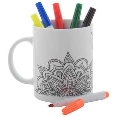 Picture of COLOURING MUG MANDY