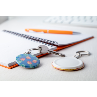 Picture of PIN BUTTON KEYRING KEYBADGE MIN