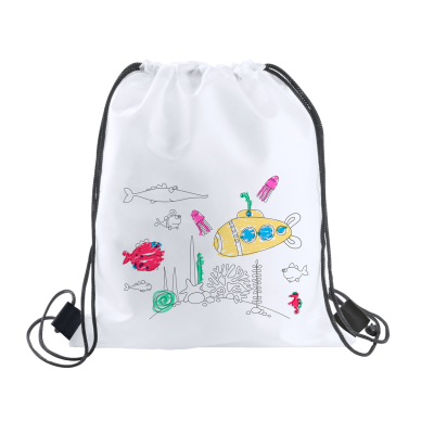Picture of BACKYS COLOURING DRAWSTRING BAG
