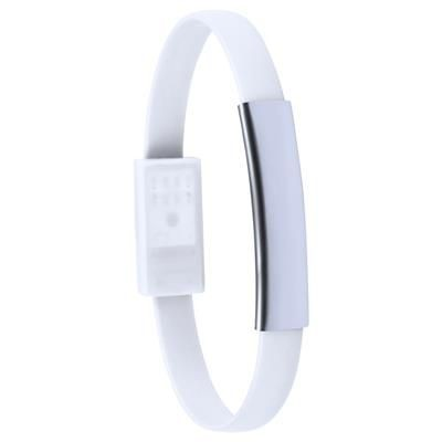 Picture of BETH RUBBER BRACELET with Micro USB Charger Cable & Aluminium Metal Plate