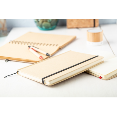 Picture of RAIMOK CARDBOARD CARD COVERED NOTE BOOK with 100 x Sheet Colour Bookmark & Rubber Strap