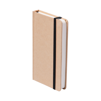 Picture of BOSCO CARDBOARD CARD COVERED NOTE BOOK with 100 x Sheet Colour Bookmark & Rubber Strap