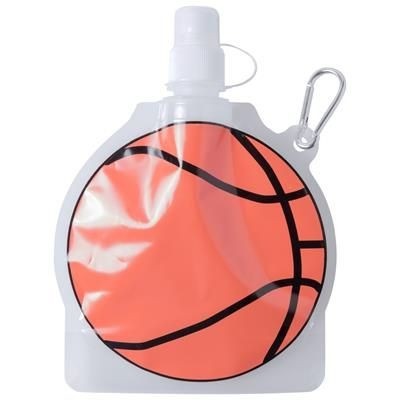 Picture of MATCH BALL SHAPE PET SPORTS BOTTLE with Carabiner 500 Ml