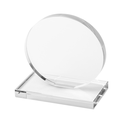 Picture of OWEN ROUND SHAPE GLASS TROPHY AWARD in Black Gift Box